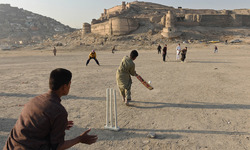 Afghans take to cricket as team prepares for historic WC debut