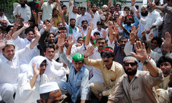 PTI protests against China trade route changes
