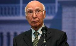 Aziz calls for 'major shift' in ties with neighbours