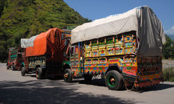 All but one truck return from Indian-held Kashmir