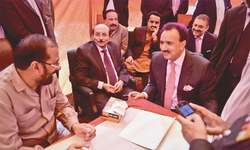 20 candidates file papers for 11 Sindh senate seats