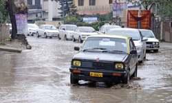 Rain turns dug-up roads into mud tracks