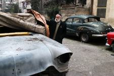 An unusual collection of classic cars in Syria