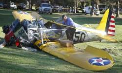 Harrison Ford 'battered but OK' after plane crash