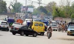 VVIP movement, protests cause traffic jams in Peshawar