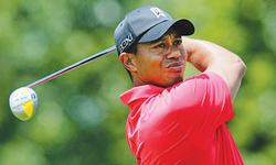 Woods plays practice round at Augusta