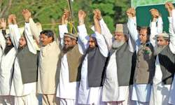 JuD-led rally calls on lawmakers to back troops for Saudi Arabia
