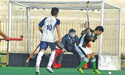 Owais shines on day of hat-tricks at National Junior Hockey