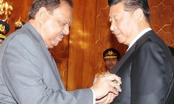 Mamnoon confers top civil award on President Xi