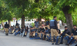 Police officials rewarded for their performance during sit-ins