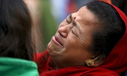 Tears and prayers for quake-hit Nepal