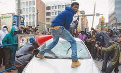 Protesters turn violent in Baltimore
