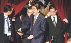 Abe focuses on economy and women's issues