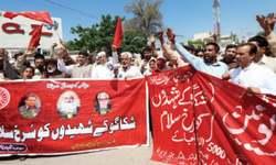 Labourers demand Rs30,000 minimum wage