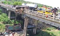 Five killed in road pile-up near Sohawa