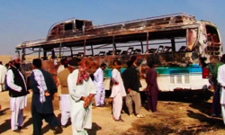 11 dead, 34 injured in wedding party bus fire