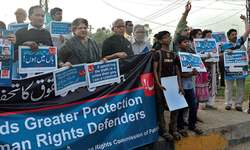 Rights defenders rally against 'badfellas'