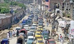 Traffic chaos order of the day in Peshawar