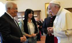 "Pope calls Palestinian leader Abbas ""angel of peace"""