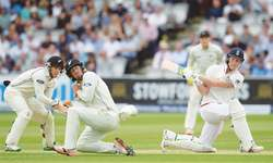 Stokes lights up Lord's quickfire ton as Cook hits form