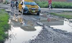 Broken roads of Narowal city