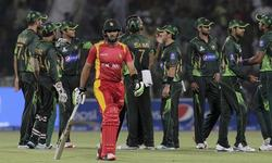 Pakistan beat Zimbabwe by 41 runs in high-scoring contest