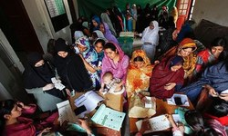 Swabi women take part in election campaign for first time