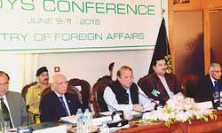 Quest for peace in neighbourhood to continue: Sharif