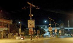 Solar-powered street lights worth millions out of order