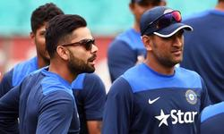 Is everything alright between Dhoni and Kohli?