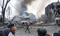 20 dead after Indonesian military plane crashes in flames