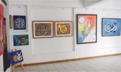 Calligraphic art on display