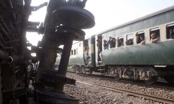 Bogies of special train fall into stream after bridge collapse near Gujranwala