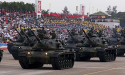Taiwan defies China with WWII military parade