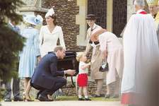 UK's Princess Charlotte christened at queen's estate