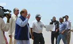Prime minister visits flood relief camp in Rahim Yar Khan