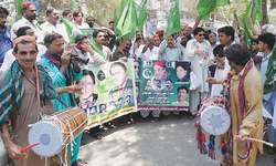 PML-N workers take out rallies in Sindh towns to celebrate commission's report