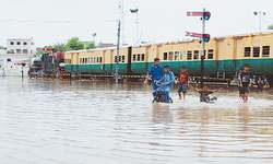 Widespread rains across Sindh cause collapse of drainage system