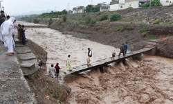 Flood blocks road travel between Punjab, KP