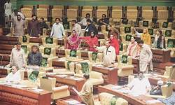 PA passes resolution against Altaf amid MQM lawmakers' protest