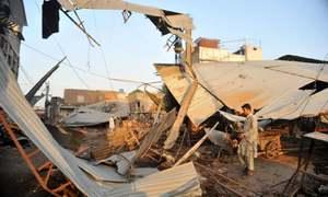 Over 100 shops demolished in fruit, vegetable market