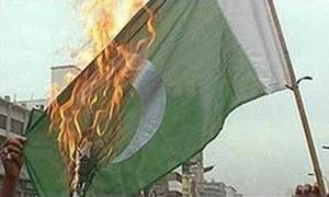 Man held for burning national flag