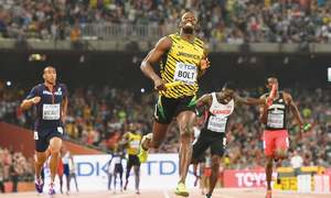 Bolt perfect yet again as Eaton sets world record