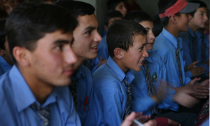 Mansehra, Indian schoolchildren interact online