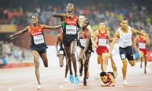 Kiprop hat-trick puts Kenya on top in Beijing