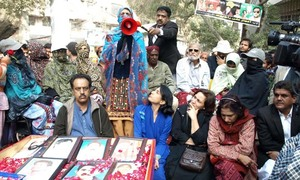 Protesters call upon army chief, judiciary to find their missing relatives