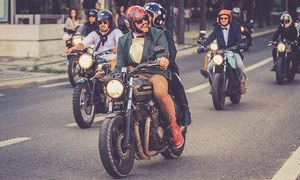 Living Colours: Sharp-dressed men on motorbikes
