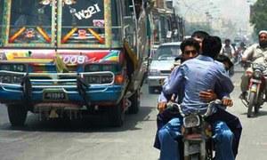 Sindh govt imposes two-day ban on pillion riding in Karachi