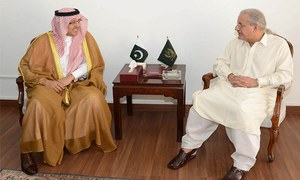 Rabbani raises issue of Mina stampede affectees with Saudi envoy