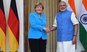 Angela Merkel on German business mission to India